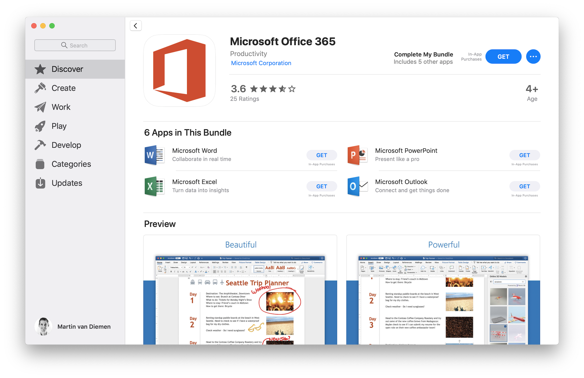 Mac App Store Microsoft Office 365